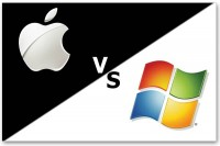 Apple VS Microsoft (logos)